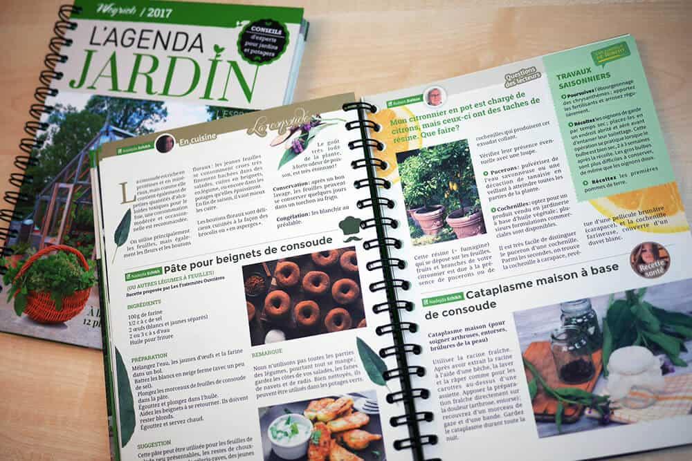 « Agenda jardin 2017 » est disponible en librairies et sur notre e-shop.
