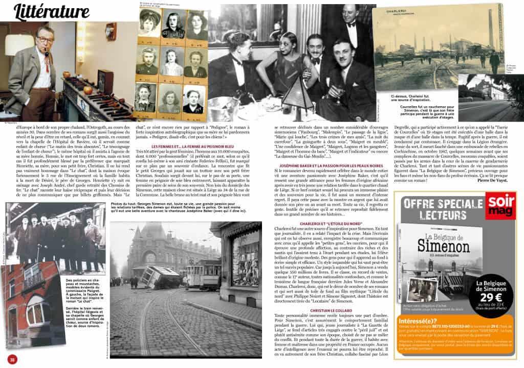 La Belgique de Simenon - 101 scènes d'enquêtes Michel Carly et Christian Libens