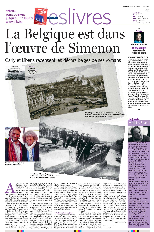 La Belgique est dans l'oeuvre de Simenon - Le Soir